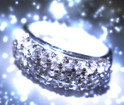HAUNTED MYSTICAL JEWELRY 925 SILVER ORNATE CRYSTAL RING WITCH SP