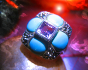 Haunted ring MOMTAZ FANTASY LIFE FEMALE DJINN POWER Genie 925 AM
